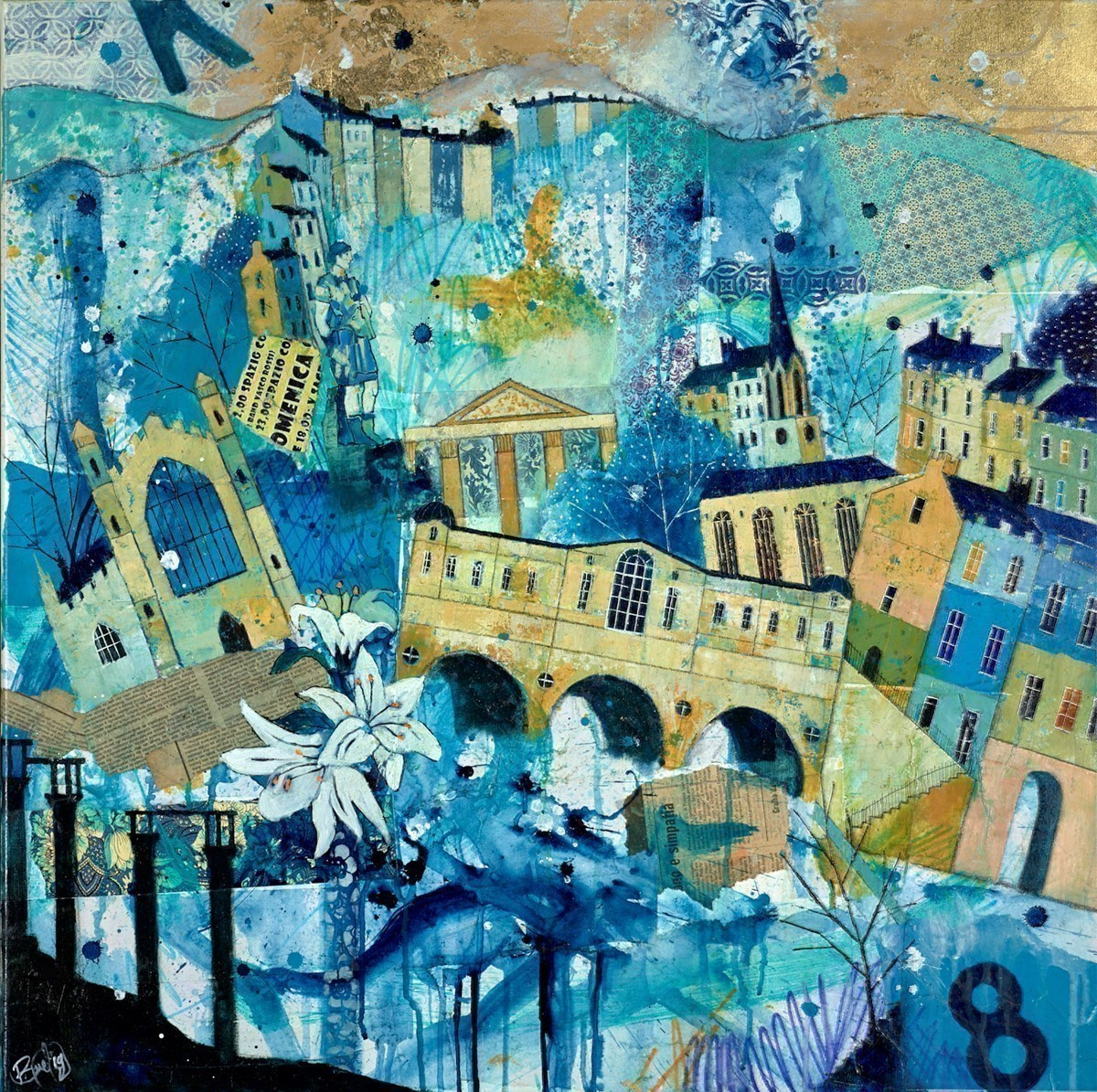 Beautiful Bath by Richard Burel -  sized 31x32 inches. Available from Whitewall Galleries
